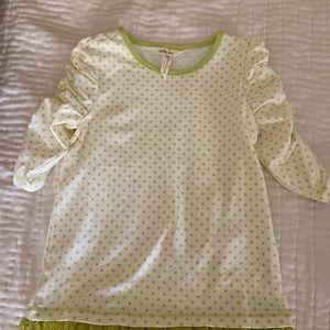 Matilda Jane girl's polka dot shirt